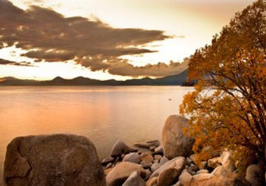 Fall alepnglow over Lake Tahoe