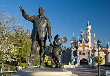 Walt and Mickey DLR Statue