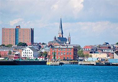 Portland Harbor and Cityscape