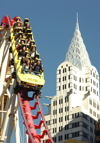 The Roller Coaster at New York-New York Hotel
