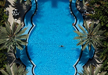 National Hotel Overhead View Pool