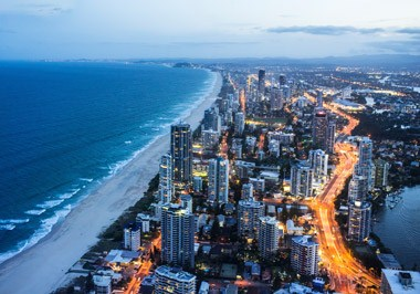 Gold Coast City at Dusk