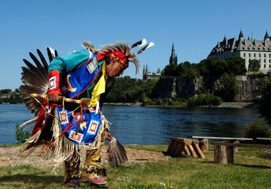 Aboriginal dance near the Ottawa River