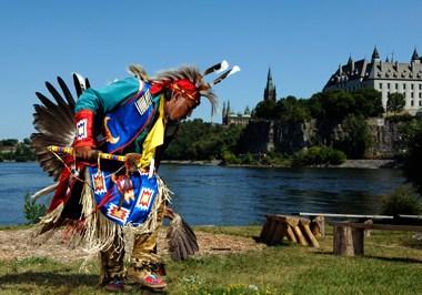 Aboriginal dance near the Ottawa River