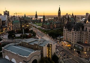 Panoramic view of downtown Ottawa