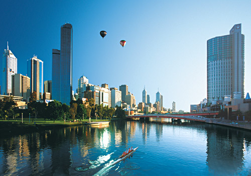 Ballooning over Yarra River