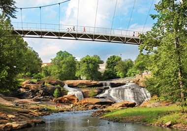 Liberty Bridge and Falls Park on the Reedy