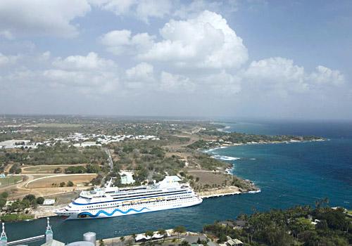 Cruise Liner In La Romana