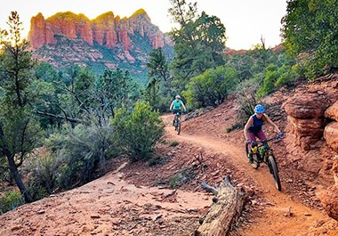 MTB on the red rocks