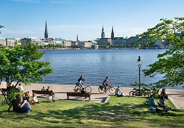 City Center and Inner Alster Lake