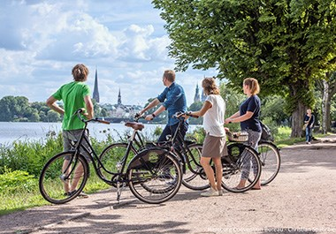 Cycling at Lake Alster