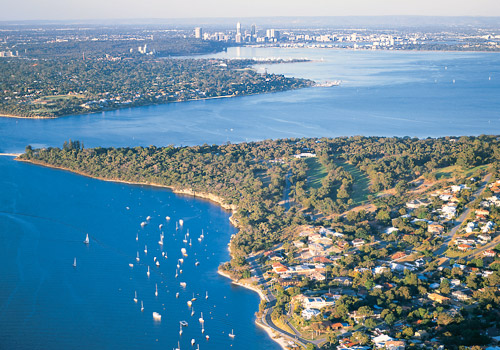 Aerial View of Point Walter and Swan River