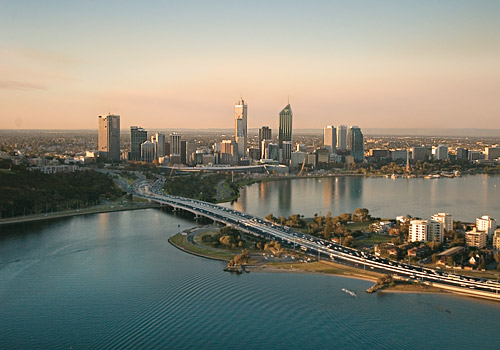 Perth City Skyline and Swan River