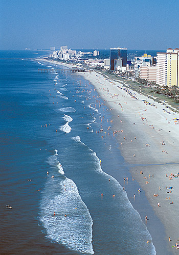 Myrtle Beach Hotels Aerial View
