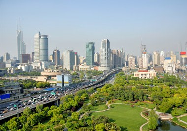 Shanghai Puxi Skyline