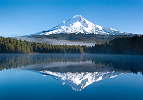 Trillium Lake with a Reflection of Mount Hood