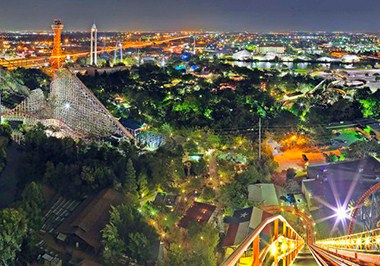 Six Flags Over Texas panoramic
