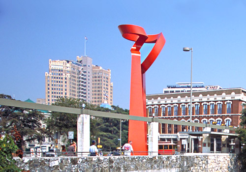 La Antorcha de la Amistad Sculpture in Downtown Sa