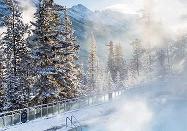 Winter Banff Upper Hot Springs