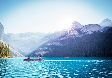 Canoeing Lake Louise