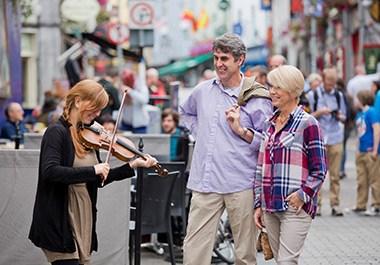 Quay Street Galway Busker