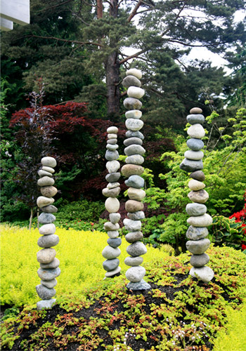 Stacked Stones at Bellevue Botanical Gardens