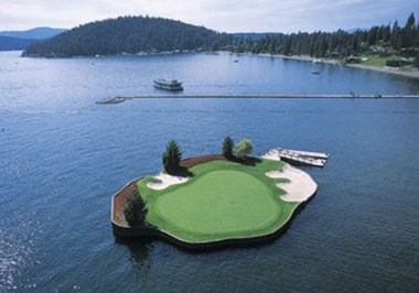 Floating Green, Coeur d'Alene Resort Golf Course