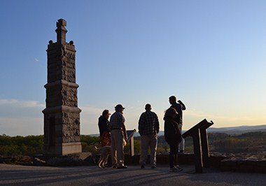 Little Round Top on the Gettysburg Battlefield