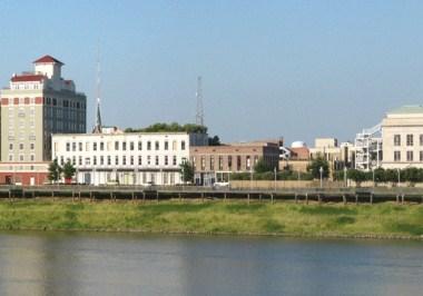 Monroe city skyline