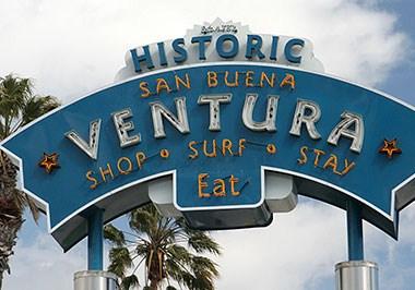 Historic San Buena Ventura Sign