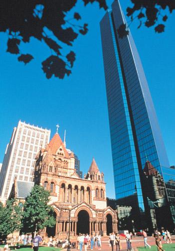 Trinity Church And John Hancock Tower