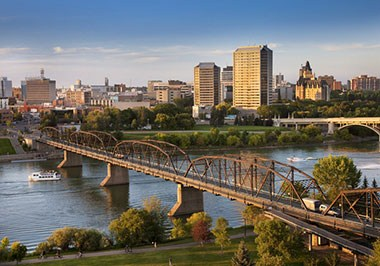 South Saskatchewan River and Downtown Saskatoon