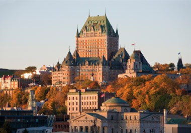 Chateau Frontenac in Autumn