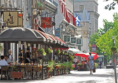 Terraces and Restaurants in Old Port of Quebec