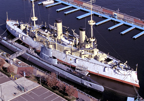 USS Olympia at the Independence Seaport Museum