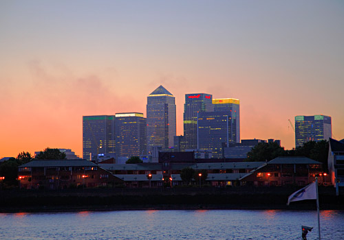 Docklands Skyscrapers at Twilight