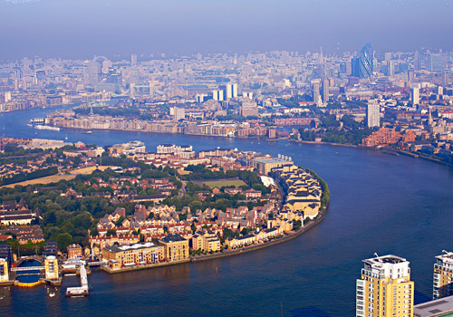 Thames River and London Skyline