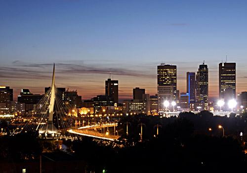 Winnipeg Night Skyline