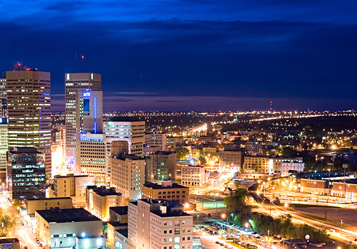 Winnipeg Evening Skyline