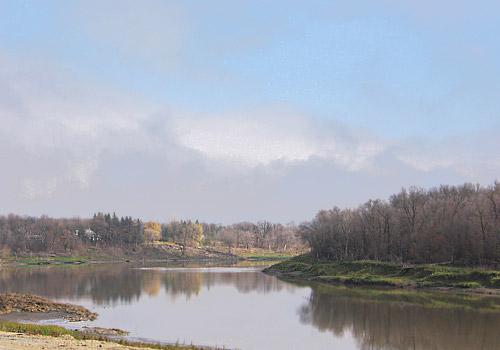 Red River near Winnipeg during the Fall Season