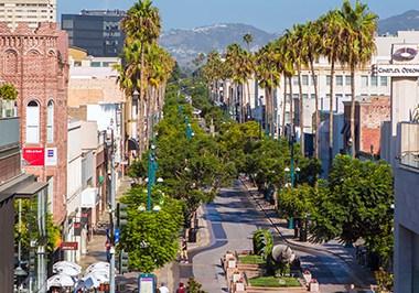 Third street promenade view downtown