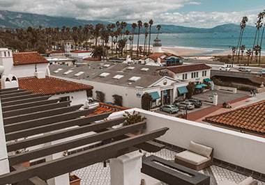 Ocean views from the rooftop of Hotel Californian