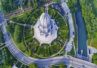 Aerial Bahai Temple