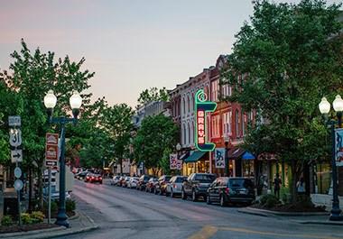 Downtown Main Street at Night