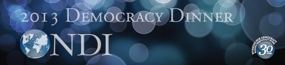 2013 NDI Democracy Award Dinner