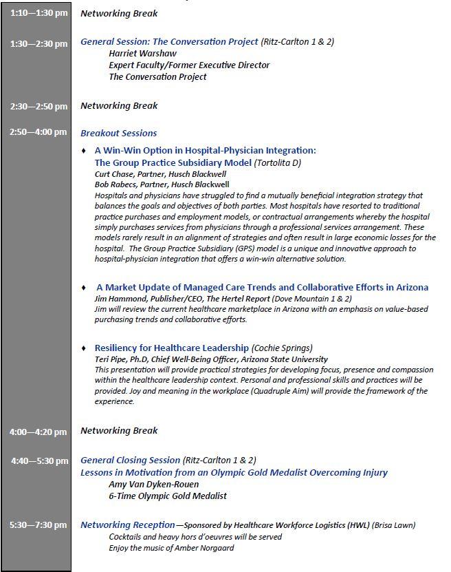 2018 Agenda Day 1 continued2