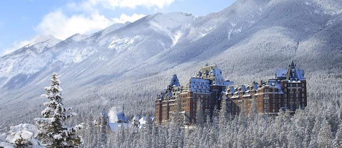 Banff Springs Hotel Winter Scene
