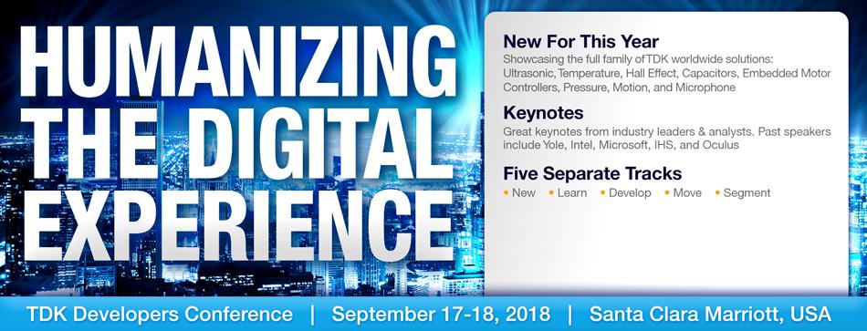 TDK Developers Conference 2018
