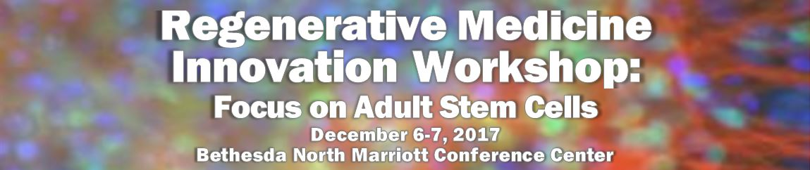 Regenerative Medicine Innovation Workshop: Focus on Adult Stem Cells