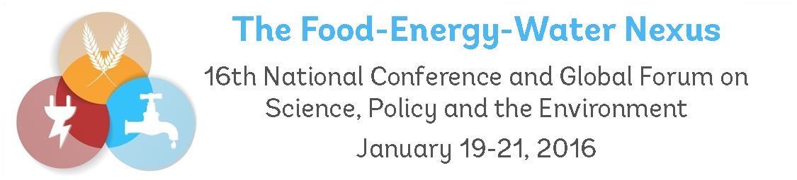 2016 Food-Energy-Water Nexus Conference
